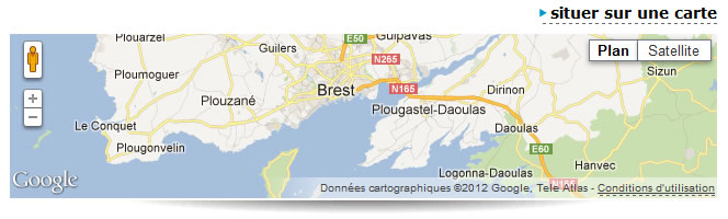 Couleurs types d'une Google Map
