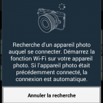 Captures d'écran de l'application SmarteCamera et RemoteViewFinder de Samsung pour hybride NX