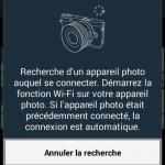 Captures d'écran de l'application SmarteCamera et RemoteViewFinder de Samsung pour hybride NX