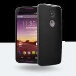 MotoMaker - Moto X : dos cuir noir, façade noire, finitions violettes