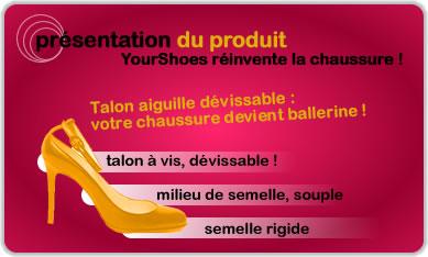 YourShoes la chaussure au talon dévissable!